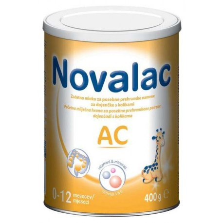 Novalac AC, početna mliječna hrana za dojenčad s kolikama (0-12 mj.), 400 g