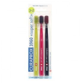 """Toothbrush Curaprox CS 3960 """"Super Soft"""" – 3 pcs."""