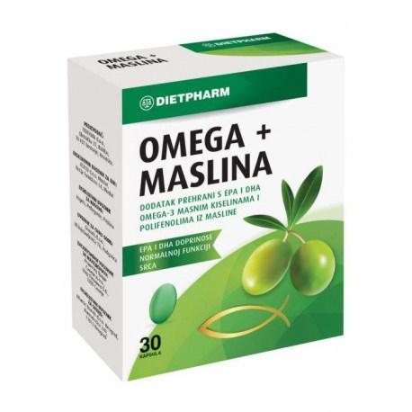 Dietpharm Omega + Maslina kapsule, 30 kom.