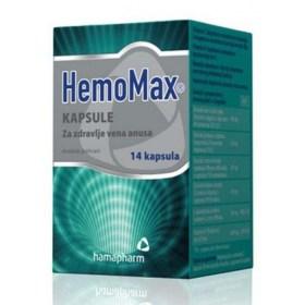 HemoMax kapsule za pomoć kod hemoroida, 14 kom.