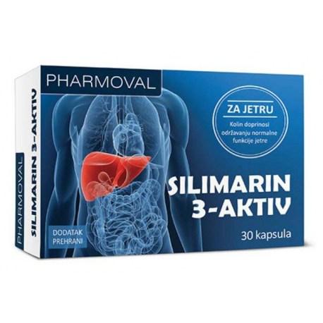 Silimarin 3-Aktiv kapsule za zdravlje jetre, 30 kom.