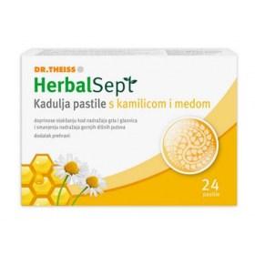 HerbalSept Kadulja pastile s kamilicom i medom, 24 pastile