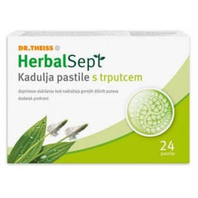 HerbalSept Kadulja pastile s trputcem, 24 pastile