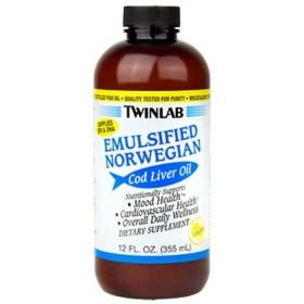 Twinlab emulzirano ulje jetre Norveškog bakalara, 355ml