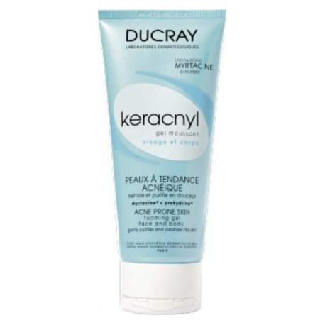 Ducray Keracnyl pjenušavi gel za lice i tijelo, 200ml