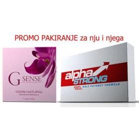 G Sense & Alpha Strong kapsule, PROMO pakiranje za parove