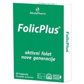 FolicPlus folna kiselina kapsule, 20 kom.