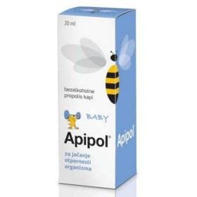 APIPOL baby bezalkoholne propolis kapi, 20ml