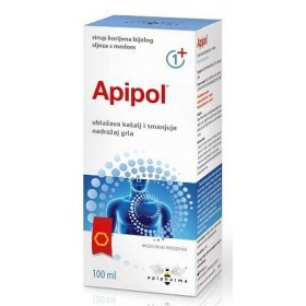 APIPOL honey syrup with marshmallow root macerate and propolis tincture