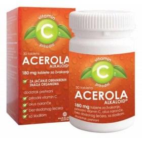 ACEROLA ALKALOID 180 mg tablete za žvakanje dodatak prehrani