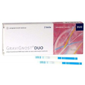 GraviGnost DUO pregnancy detection tape test