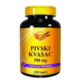 Natural Wealth Pivski kvasac 500mg