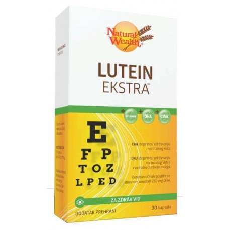 Natural Wealth Lutein Extra, 30 kom.