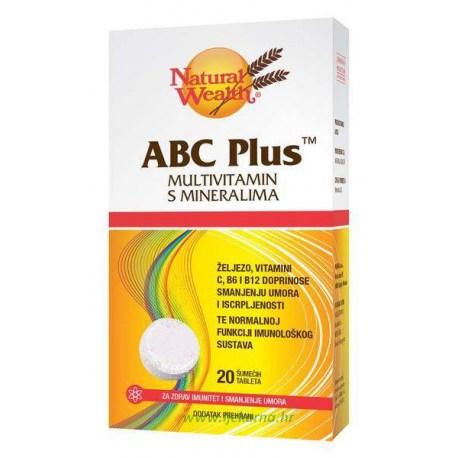 Natural Wealth ABC Plus šumeće tablete, 20 kom.