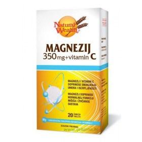 Natural Wealth Magnesium 350mg + Vitamin C, 20 pcs.