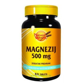 Natural Wealth Magnezij 500mg, 60 kom.