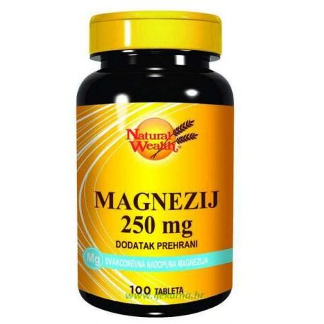 Natural wealth magnezij 250mg 100 kom for Folna kiselina u tabletama