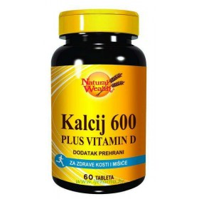 Natural Wealth calcium 600mg + D 400 i.j.