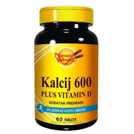 Natural Wealth Kalcij 600mg + D 400 i.j.