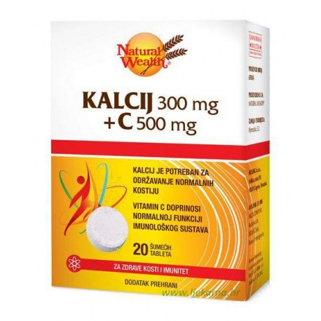 Natural Wealth Kalcij 300mg + C 500mg