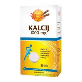 Natural Wealth Kalcij 1.000mg šum.tbl.