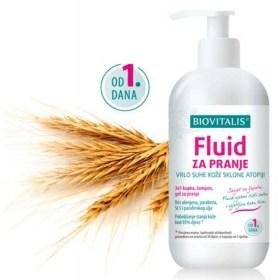 Biovitalis FLUID za pranje suhe kože sklone atopiji, 150ml