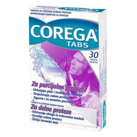Corega tablete za čišćenje zubne proteze, 30 kom.