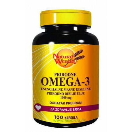 Natural Wealth Omega 3, 1.000 mg