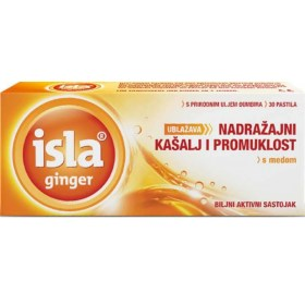 Isla ginger relieves irritating cough and hoarseness