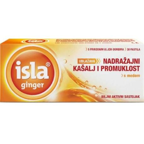 Isla ginger ublažava nadražajni kašalj i promuklost