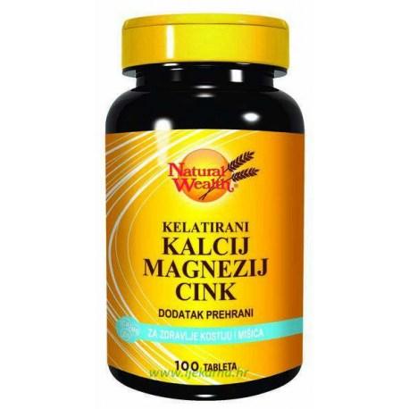 Natural Wealth Kalcij-Magnezij-Cink, 100 kom.