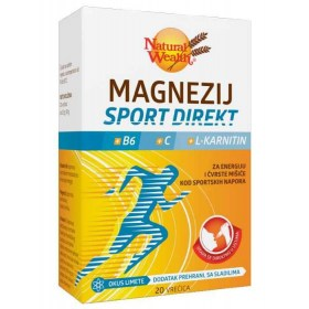 Magnezij Sport Direkt s L-karnitinom i vitaminima B6 i C