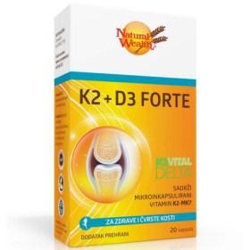 Natural Wealth K2 + D3 Forte za zdrave i čvrste kosti