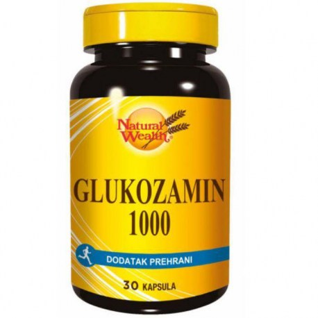 Natural Wealth Glukozamin 1.000mg, 30 kapsula