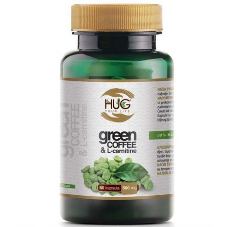 HUG Green Coffee L-Carnitine kapsule, 60x500mg