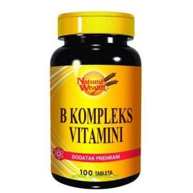 Natural Wealth B complex vitamins, 100 pcs.
