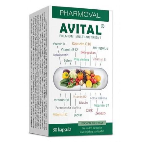 Pharmoval Avital multinutrijent kapsule za vitalnost i energiju