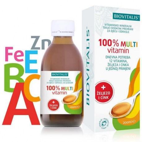 Biovitalis 100% Multivitamin 200ml