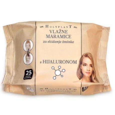 Holyplant vlažne maramice za skidanje šminke s hijaluronom
