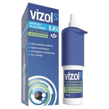 VIZOL S 0,4% umjetne suze u kapima 10ml