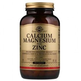 Solgar calcium, magnesium plus zinc tablets