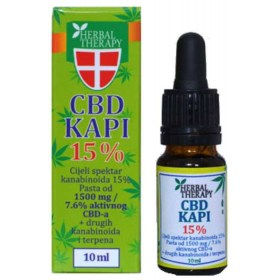 Herbal Therapy CBD kapi 15% 10ml