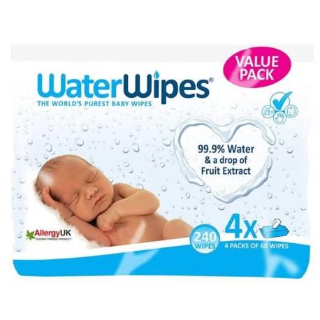 WaterWipes vlažne maramice bez kemikalija 4 x 60 kom.
