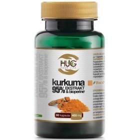 Kurkuma 95% ekstrakt & BioPerine kapsule