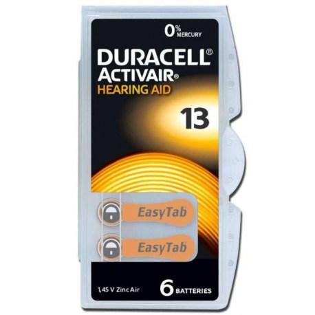 Duracell baterije za slušni aparat DA 13, 6 kom.