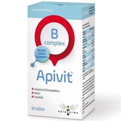 Apivit B-kompleks tablete 60 kom.