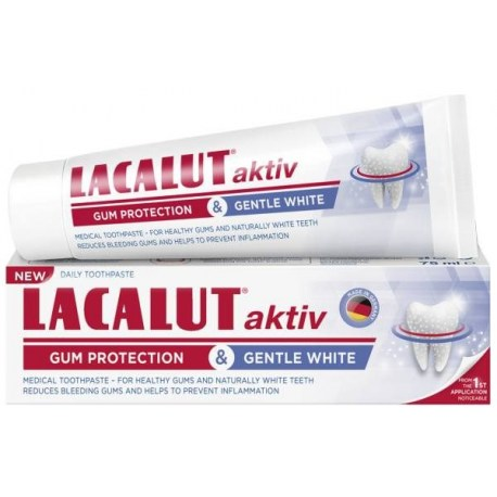 Lacalut Aktiv gum protection & gentle white 75ml