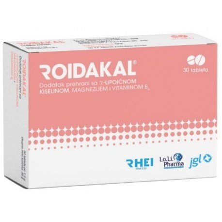 ROIDAKAL α-lipoična kiselina, magnezij i vitamin B₆ 30 tableta