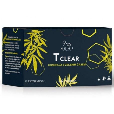 T Clear Konoplja i zeleni čaj, 25 filtar vrećica