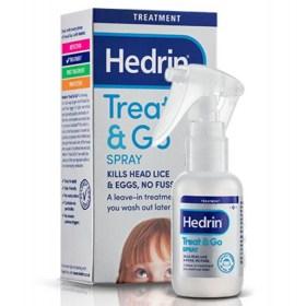 Hedrin Treat&Go sprej uklanja uši i gnjide iz kose
